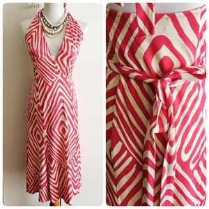 DVF Wrap Adjustable Halter Sleveless Sundress Sz 6